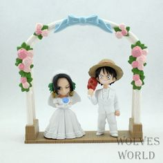 Japan anime One piece Luffy Boa Hancock with Magnet based wedding version pvc figure toys tall set. Anime One Piece, One Piece Luffy, Shenzhen, Luffy And Hancock, One Piece Figuras, Wolf World, Pregnant Wedding Dress, One Piece Pictures, Wedding Topper