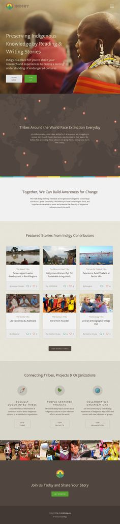 Indigy - Working to Preserve Indigenous Knowledge jQuery, Inspiration, Scrolling Site, Company Indigenous Knowledge, Ui Web, User Interface Design, Showcase Design, Web Design Inspiration, Ux Design, Change The World, Minimalist Design, Website Company