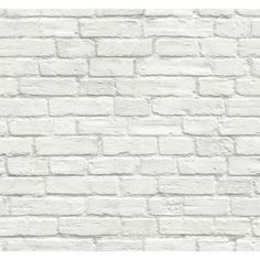 Don't you just love the look of white brick? Turn your flat walls and furniture surfaces into stylish focal points with this contemporary Vintage White Brick peel and stick wallpaper from NextWall. Printed on smooth vinyl, our peel and stick designs Faux Brick Walls, White Brick Walls, White Shiplap, White Brick Backsplash, White Bricks, Brick Wallpaper Vintage, White Brick Wallpaper, Brick Wallpaper Bedroom, Brick Wallpaper For Kitchen