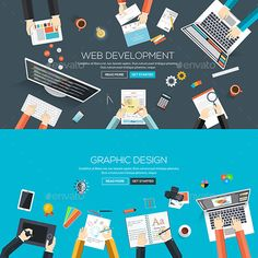 Buy Flat Designed Banners by on GraphicRiver. Flat designed banners for web development and graphic design. Flat Design, Web Design, Graphic Design, Banner Vector, All Fonts, Vector Design, Design Templates, Vector Graphics, Banner Design