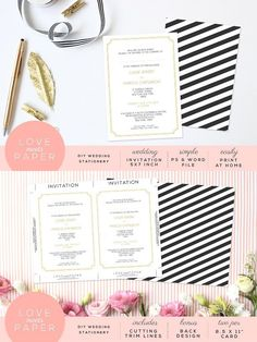Wedding Invite Template I1001. Wedding Card Templates