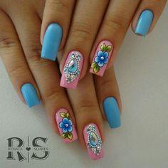 Sexy Nails, Fancy Nails, Cute Nails, Pretty Nails, Leopard Nails, Flower Nails, Gorgeous Nails, Spring Nails, Long Nails