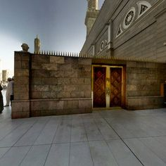 JIBRIL GATE Madinah Saudi Arabia / 360° panoramic photography. Entrance to JIBRIL GATE, one of the eastern gates of al-Masjid al-Nabawi in Madinah, Saudi Arabia