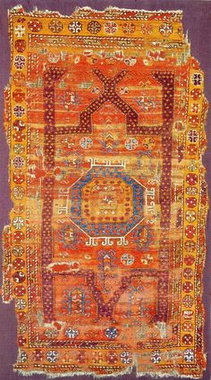 """Christopher Alexander's collection. """"Red Rug with Spotted Purple Band."""""""