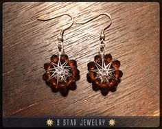 """Radiant Star"" Baha'i 9 Star Crystal Wire-wrapped earrings by 9StarJewelry #bahai #bahaijewelry #9starjewelry #earrings #star #radiantstar"