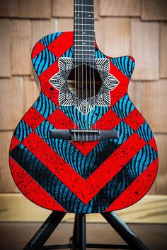 Custom Designed Zac Brown Taylor Guitar by Artist Casey Ryder jA