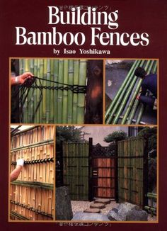 Working with Bamboo Learn how to craft the perfect bamboo joint, how to split or bend bamboo poles and how to build your own bamboo furniture or musical instruments. Bamboo Building, Building A Fence, Outdoor Projects, Garden Projects, Garden Tools, Bamboo Poles, Bamboo Fence, Wooden Fence, Bamboo Structure