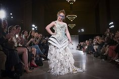 Madeline Stuart, an Australian model with Down syndrome, models a Hendrik Vermeulen dress in the FTL Moda presentation of the spring/summer 2016 collection . Self Advocacy, Australian Models, Down Syndrome, Spring Summer 2016, Bridal Collection, Campaign, Challenges, Couture, Apple Pie