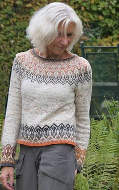Tinta pattern by Heidemarie Kaiser : Tinta pattern by Heidemarie Kaiser - Knitting Projects Fair Isle Knitting Patterns, Sweater Knitting Patterns, Loom Knitting, Knitting Designs, Knit Patterns, Free Knitting, Knitting Projects, Knitting Tutorials, Vintage Knitting