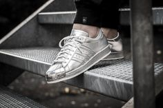 """Girls, check out this silver beauty! The adidas Originals Superstar 80s from the """"Metallic Pack"""" is available at our shop now. EU 36 - 41 1/3 