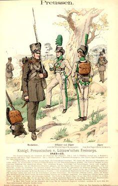 Royal Prussian Lützow Free Corps, 1813-1815, by Richard Knötel.