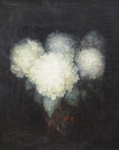 colourthysoul:  Adeline Maud Russell van Schaik - Hydrangeas in a vase