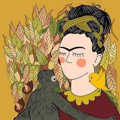 Eliza e Piu como Frida Kahlo