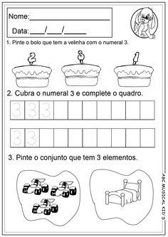 ATIVIDADES DE EDUCAÇÃO INFANTIL  E MUSICALIZAÇÃO INFANTIL: Atividades com numerais
