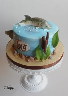 Fisherman cake You are in the right place about Cake Design engagement Here we offer you the most beautiful pictures about the Cake Design for boys you are looking for. When you examine the Fisherman Birthday Cakes For Men, Fish Cake Birthday, Funny Birthday Cakes, Fishing Theme Cake, Fishing Cakes, Fondant Cakes, Cupcake Cakes, Fisherman Cake, Cake Designs For Boy