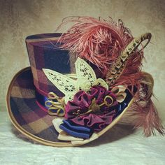 Steampunk hat Full Size Top Hat Mad Hatter hat by OohLaLaBoudoir