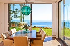Dining Room with a view.  Birdview residence designed by Burdge AIA. buaia.com