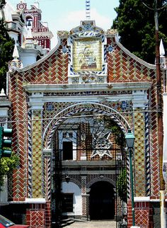 Entrance to Church, Puebla, Mexico