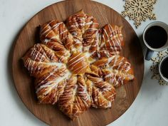 Get Raspberry Snowflake Pull-Apart Bread Recipe from Food Network