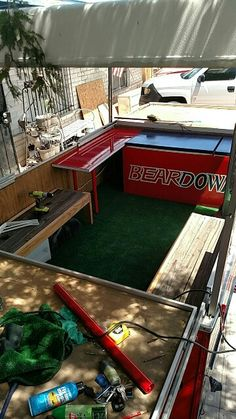 Found a good interior pic had to post even tho its out of sequence. UofA tailgate trailer.