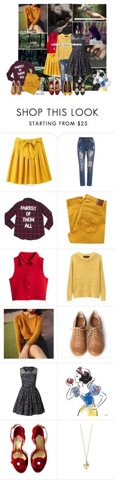 """Snow White (Snow White and the Seven Dwarfs)"" by smol-snowflake ❤ liked on Polyvore featuring Disney, Once Upon a Time, Vers, Nobody Denim, Chicnova Fashion, Isabel Marant, Miss Big, Very Volatile, Orla Kiely and Chanel"