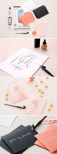 Make calligraphy stationery and wall art with this kit.