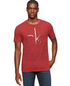 Calvin Klein Jeans CK Cracked Graphic-Print Logo T-Shirt