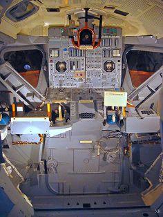 An inside view of the Apollo Lunar Module (LM) crew cabin. Taken at the Kennedy Space Center, Nasa Missions, Apollo Missions, Moon Missions, Apollo Space Program, Nasa Space Program, Cosmos, Apollo 11, Apollo Nasa, Carl Sagan