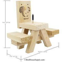 BirdHouseSupply.com - Woodlink Picnic Table Ear Corn Squirrel Feeder,(http://www.birdhousesupply.com/woodlink-picnic-table-ear-corn-squirrel-feeder/)