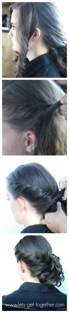 Side Twist Messy Bun - click thru for #tutorial #hair www.lets-get-together.com