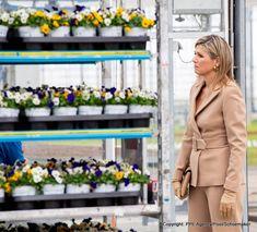 Koningin Máxima bezoekt kwekerij in Honselersdijk Dutch Royalty, Queen Maxima, Netherlands, Princess, Picture Ideas, Royals, Company Dinner, Celebs, Flowers