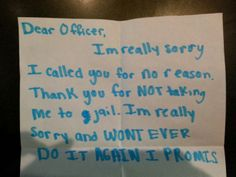 Adorable Apology Comes with Serious Reminder