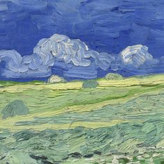 Wheatfield under Thunder Clouds (detail) by Vincent van Gogh | Lone Quixote | #art #portrait #arte #artwork #kunst #atx #VincentVanGogh #detail #vangogh #fineart #painting #clouds #thunder