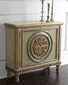 Fontaine Chest at Horchow. ......plain cabinet w/ceiling medallion cut  so open at joining