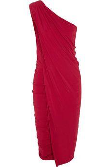 Draped stretch-jersey dress by: Donna Karan