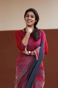 "Nayanatara saree photos in ""Bhaskar the Rascal"" tamil movie - Saree, lehenga, anarkali, maxi and salwar kameez fashion Saris, Deepika Padukone, Designer Saree Blouses, Lehenga, Simple Sarees, Elegant Fashion Wear, Elegant Saree, Casual Saree, Indian Beauty Saree"