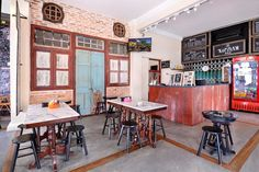 Cafe in the Loke Thye Kee Residences, Penang, Malaysia