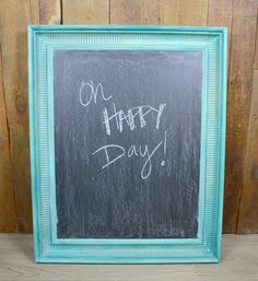 How to Make a DIY Chalkboard From an Old Canvas