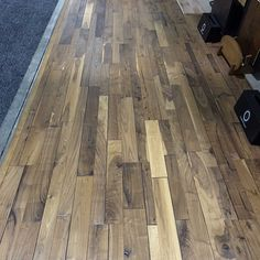 Historic Alta Vista Walnut hardwood flooring by Hallmark Floors .