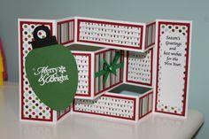 Tri-Shutter fold Christmas Card