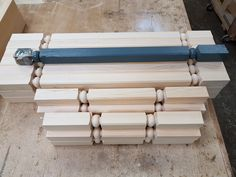 Custom spindles in different sizes to match the original pattern. Texture, The Originals, Wood, Pattern, Crafts, Madeira, Woodwind Instrument, Surface Finish, Patterns