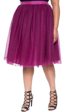 ELOQUIITulle Midi Skirt (Plus Size) available at #Nordstrom