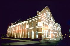The Ryman Auditorium, first home of the Grand Ole Opry, Nashville, TN