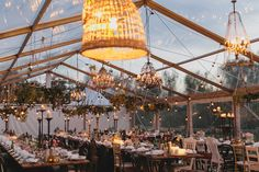 Our stunning french rustic clear roof marquee