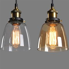 Vintage contryside style clear glass lampshades for E27 lamp retro lamp cover chimney glass for home bar decoration-in Lamp Covers & Shades from Lights & Lighting on Aliexpress.com | Alibaba Group