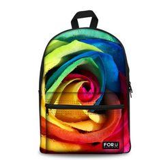 Forudesigns Flower Print Kids School Bags For Girls Teenage Floral Student Schoolbag Casual Canvas Children Book Bag Mochila