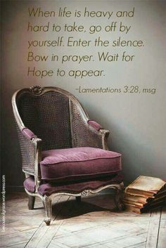 Enter into His rest and wait on Him