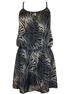 Zebra Print Satin Tunic - $39 Sizes: 14-28 #plussize #curvy #curvaceouscouture