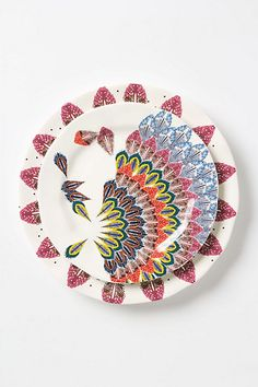Thinking about getting a nice set of white plates, then mixing in some funkier stuff for fun... Alula Dinner Plate - Anthropologie.com
