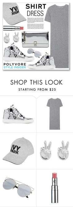 """metallic inside"" by nanawidia ❤ liked on Polyvore featuring MM6 Maison Margiela, Acne Studios, Topshop, Rock 'N Rose, Chantecaille and Miu Miu"